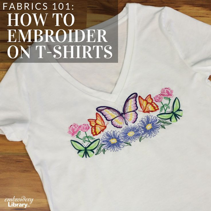 Get tips and tricks for embroidering on t shirts with this