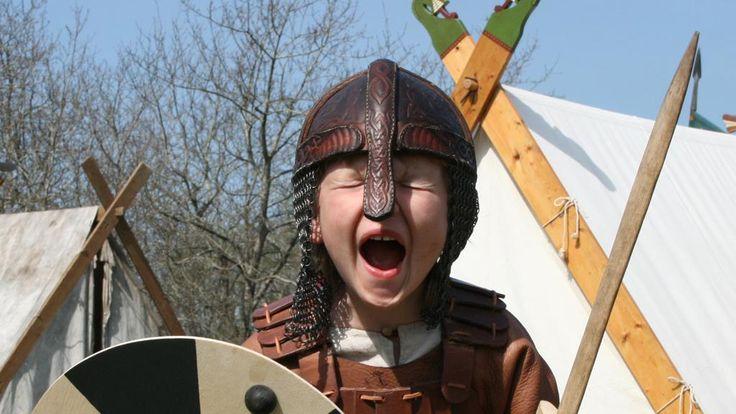Young Viking... My war cry will cast mortal fear into the minds of our enemies: Aaaaaaaarrrrrr.... Ooooodin!!!!