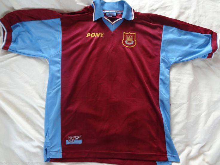 Vintage Authentic west ham United L Pony home 1997 - 98 Football Soccer shirt