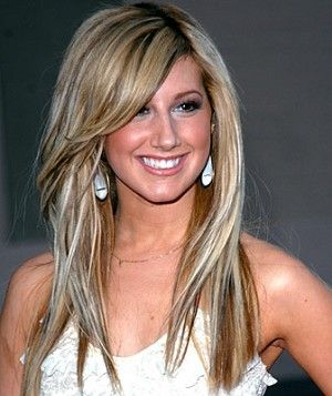 hair highlights and low lights: Long Hair, Hair Cut, Side Swept Bangs, Side Bangs, Blondes Highlights, Hair Style, Low Lights, Hair Color, Ashley Tisdale