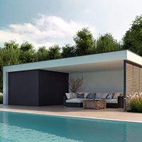 De Poolhouse bePods, een sleutel op de deur en design tuinhuisje