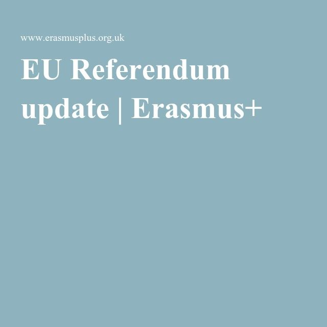 EU Referendum update | Erasmus+ Re-pinned by #Europass