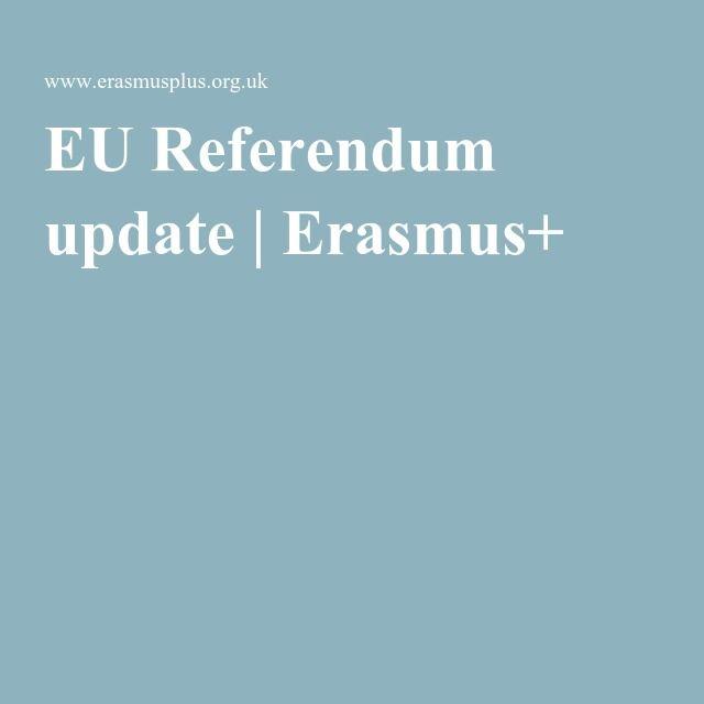EU Referendum update | Erasmus+ Re-pinned by #Europass