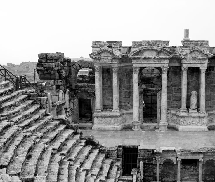 Hierapolis Ancient Theater, Pamukkale, Denizli, Turkey.