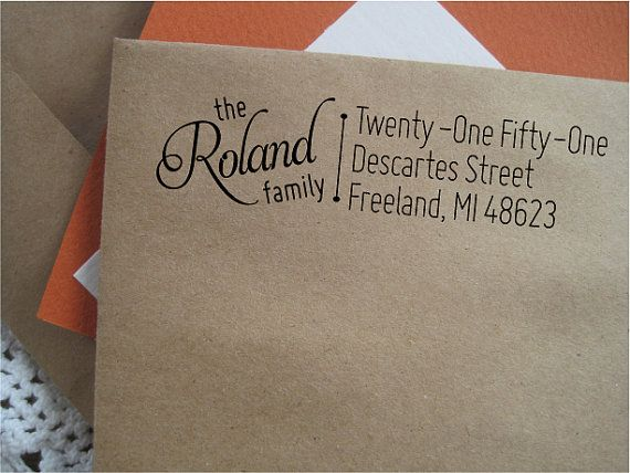 Family Return Address Stamp, Custom Address Stamp,  Housewarming Gift,  Pre-inked Stamp, Freeland on Etsy, $29.00