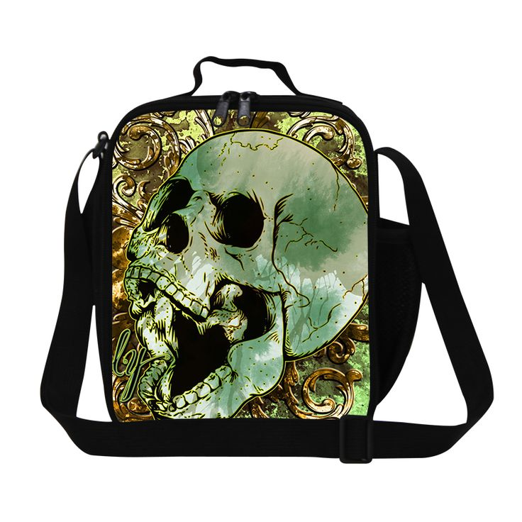 Fashion Lunch Bags For School Insulation Cool New Skull Pattern Picnic Bolsa Feminina Thermal Food Bag Lunch Box With Zipper