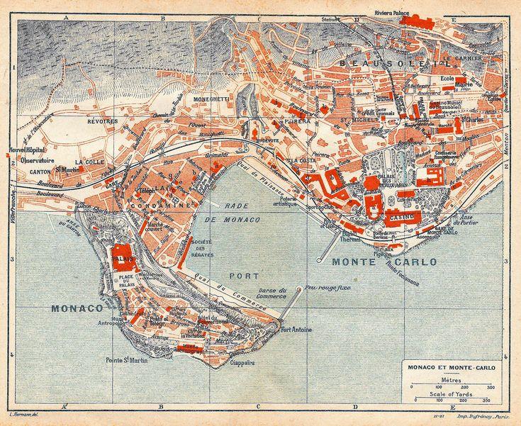 13 best EUROPE MONACO MAPS images on Pinterest Maps Monaco