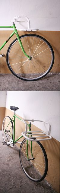 Handlebars. That are actually a rack. But also handlebars. This is great design and my road bike would sorely benefit.