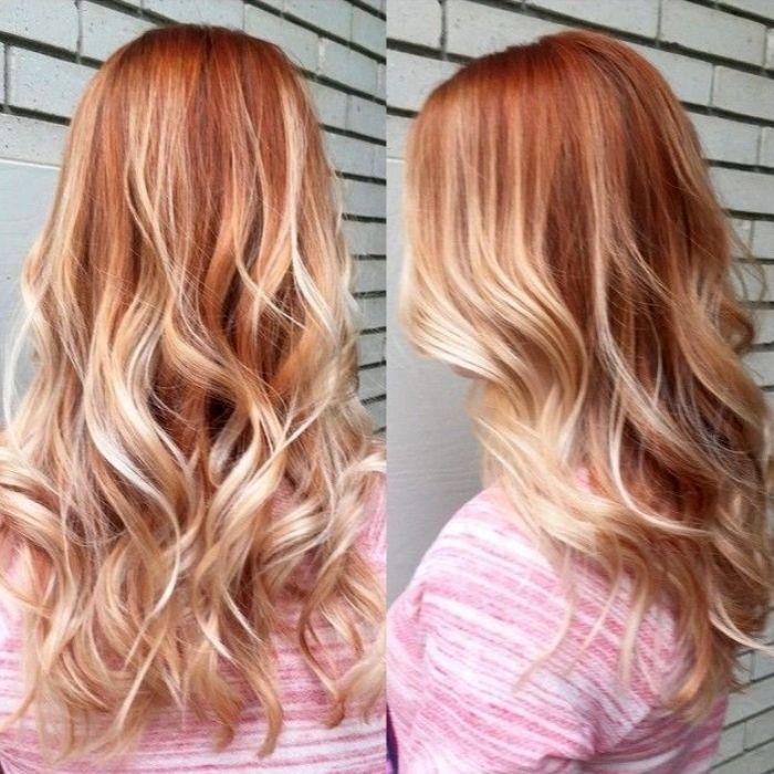 Блонд-рыжий цвет волос