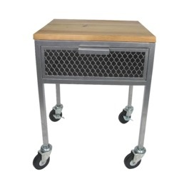 Threshold Accent Table with Wheels