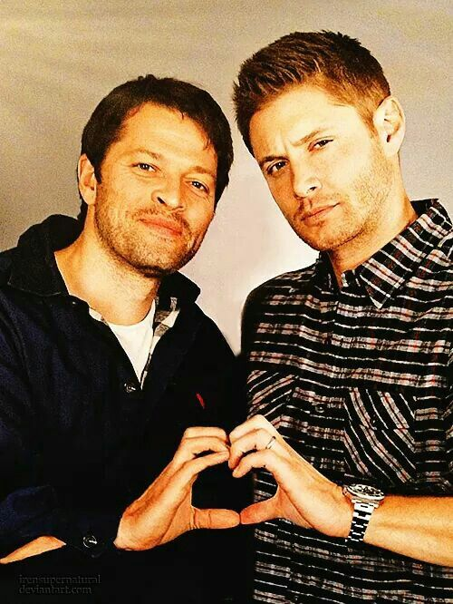 1) Don't you look at me in that tone of eye expression, Jensen; 2) I love these men.