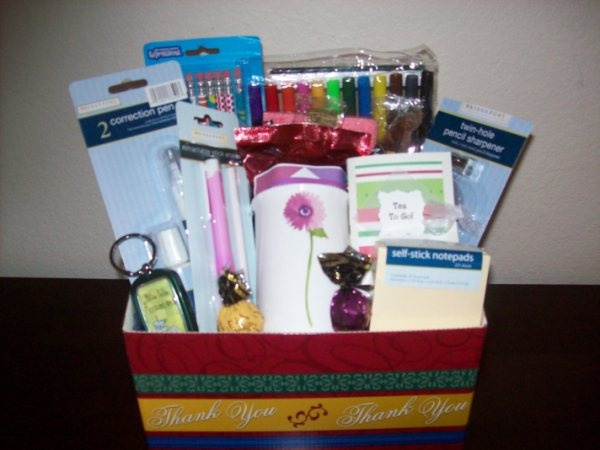 212 best teen gift basket images on pinterest gift ideas creative office supply gift basket perfect for college student or business people negle Images