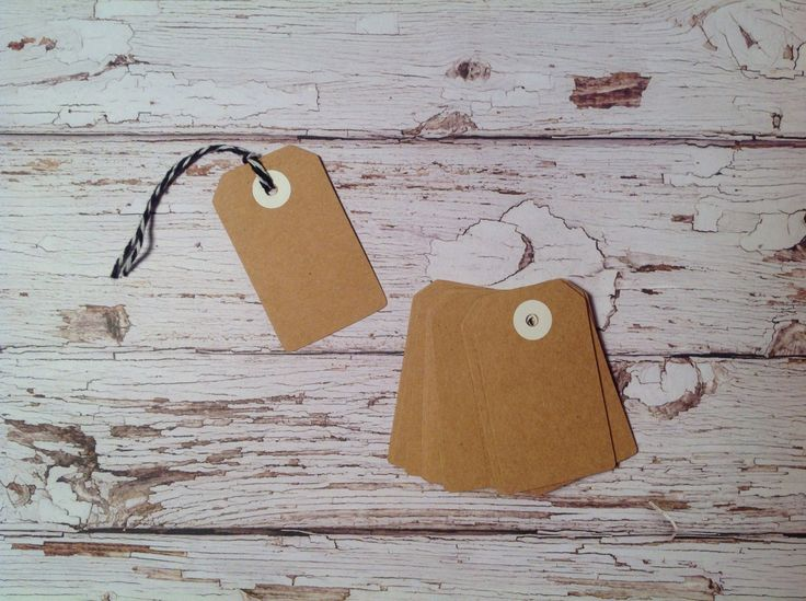 Tiny Gift tags,20 mini Kraft tags, price tags, Kraft cardstock tags, mini gift tags, tags and twine set by PinkyPromiseBargains on Etsy
