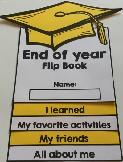 End of year flip book: This activity is perfect to help students reflect on the school year. Flip books are hands-on, easy to assemble and fun! Plus, students get to leave with an awesome souvenir.