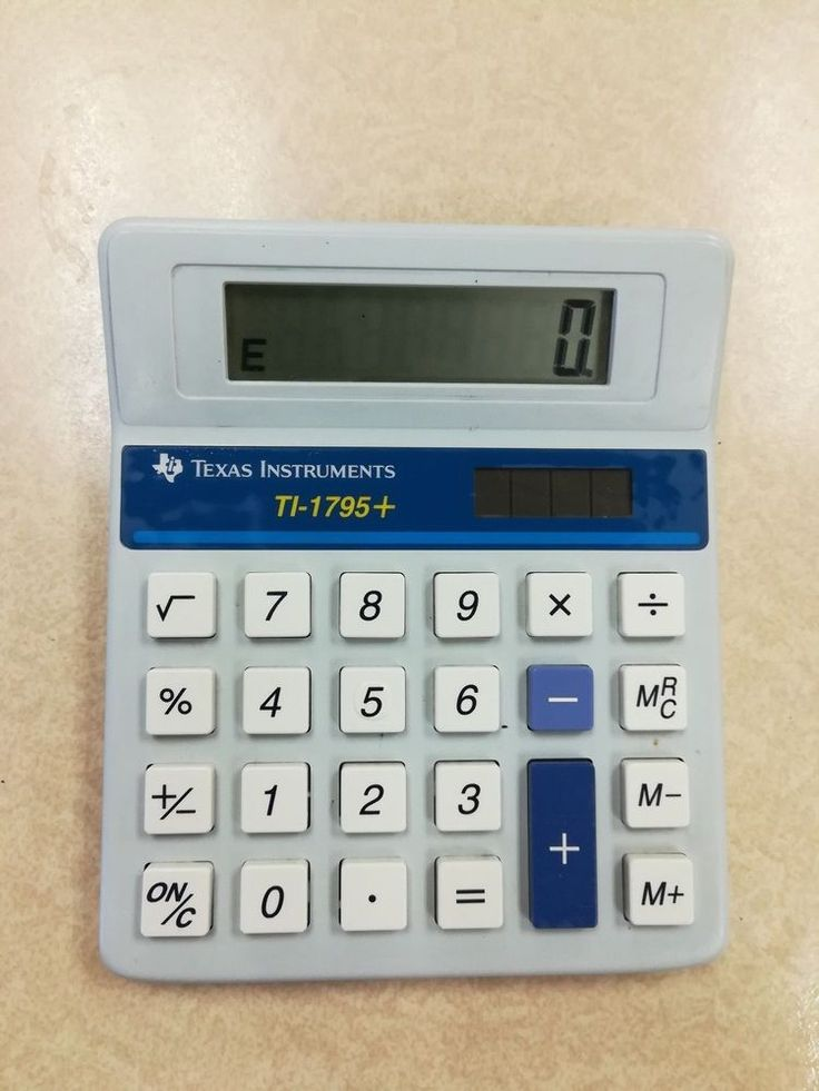 VINTAGE TEXAS INSTRUMENTS BASIC 8 DIGIT SOLAR CALCULATOR (TI-1795)  | eBay