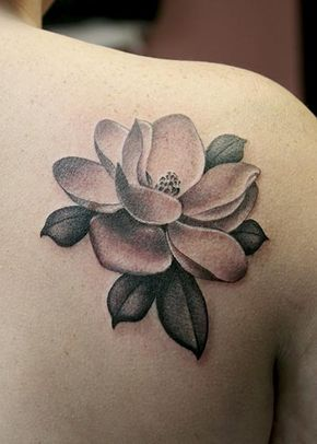 Magnolia Tattoo Made By Peter Anderson At The Bell Rose Tattoo In