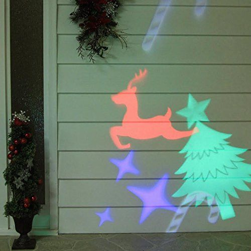 Felices Pascuas Collection Outdoor LED Christmas Light Projector with Remote Control