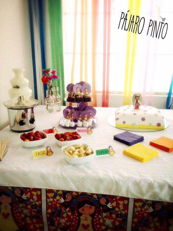 Decoracion Primera Comunion Virgen De Guadalupe ~ Mesa de dulces, decoraci?n de la virgen de Guadalupe para primera
