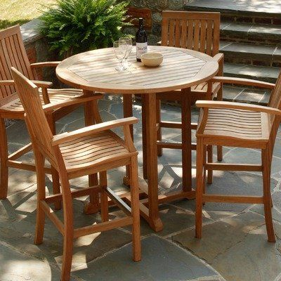 Teak Bar Table And Chairs Three Birds Casual