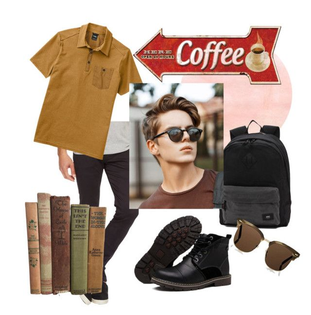 """""""☕"""" by anastasiastoupa on Polyvore featuring Ben Sherman, Vans, Gucci, men's fashion and menswear"""