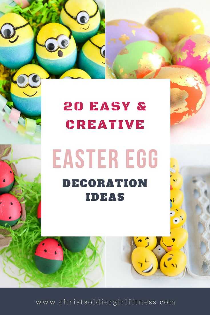 20 Creative, Fun, simple and Easy Easter Egg Decorating ideas for kids. Help your toddler decorate eggs for Easter for some arts and craft activity or games ideas. #easter egg craft #easter egg decorating game #toddlers #decorate eggs for easter