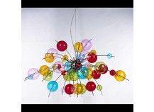 Molecular Multicoloured 10 Light chandelier