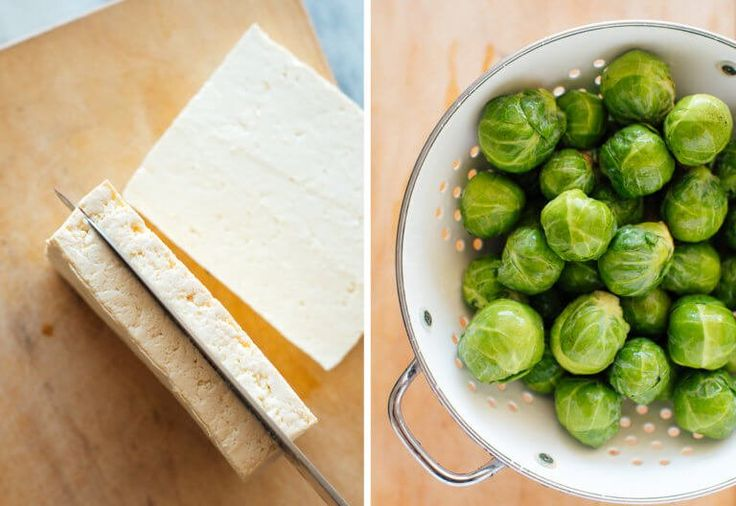 Roasted Brussels Sprouts and Crispy Baked Tofu with Honey-Sesame Glaze – Cookie …   – Tofu recipes vegan