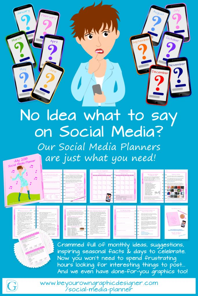Monthly Social Media Planners. Our Planners have over 300 content ideas every month so you'll always have something to say on your social media.