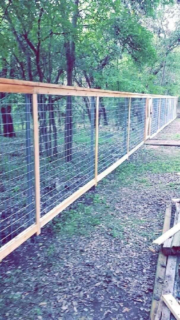 Welded Wire Framed Ranch Fencing Sometimes Called Cattle Pannel W Rough Cedar 2x6 Cap 1x4 Trim Ranch Fencing Cedar Fence Wood Fence
