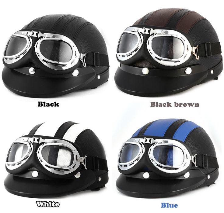 17.62$  Watch here - http://alizwf.shopchina.info/go.php?t=32727549908 - Hot Sell Motorcycle Helmet Brown Synthetic Leather vintage Motorbike Helmets Vespa Open Face Half Motor scooter Visor Goggles 17.62$ #buyonline
