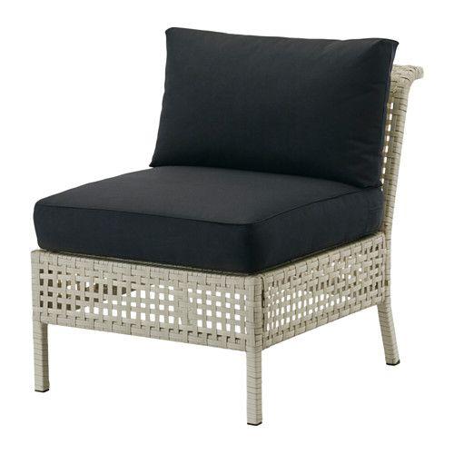 KUNGSHOLMEN / KUNGSÖ Armless chair, outdoor - light gray/black - IKEA