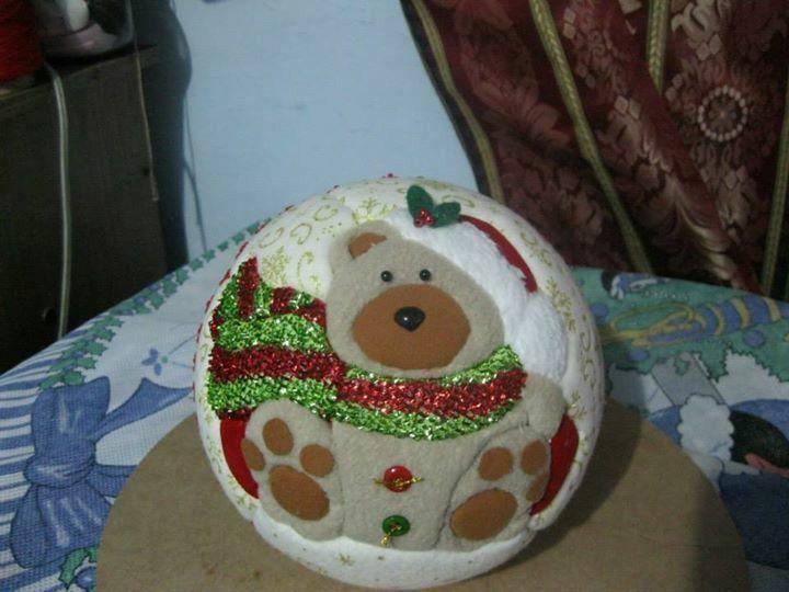 Bolas de icopor navidad manualidades pinterest - Manualidades bolas de navidad ...