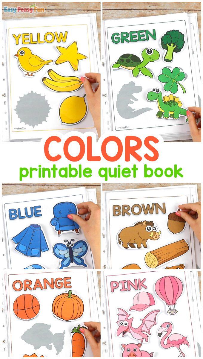 Printable Colors Quiet Book Color Activities Learning Colors Activities Color Activities For Toddlers [ 1200 x 680 Pixel ]