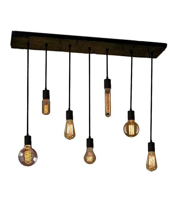 Les 25 meilleures id es de la cat gorie lustre edison sur for Lustre ampoules suspendues