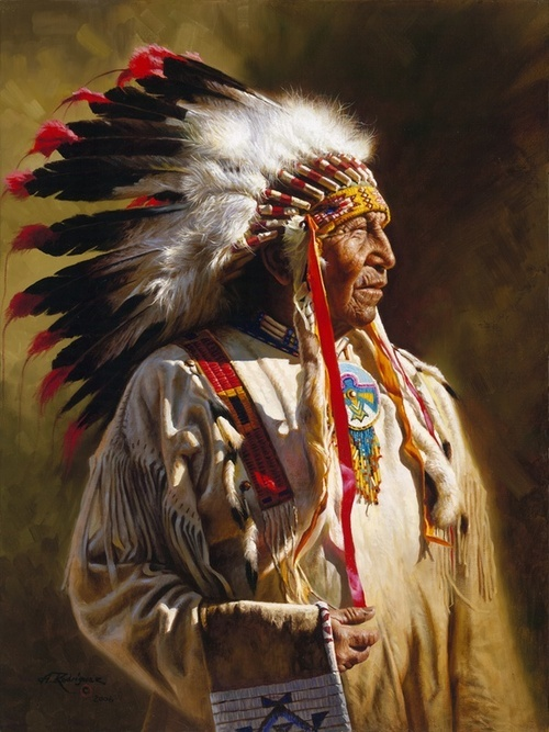 Profile of a Chief.  Artwork by Alfredo Rodriquez.