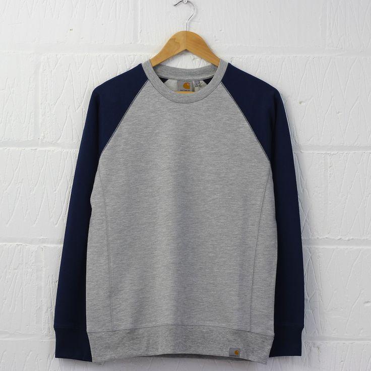 Carhartt Harvey Sweatshirt (Blue Penny) #carhartt #sweatshirt #raglan #sweater #newentry #menswear