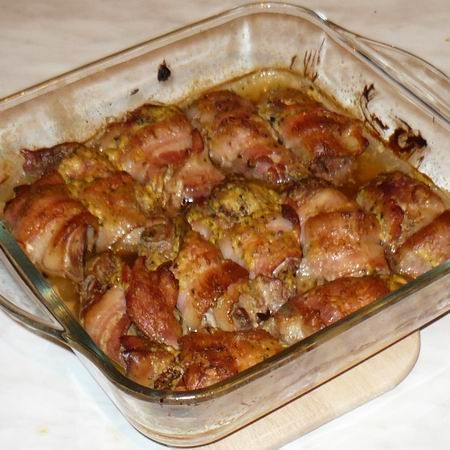 Csirkemáj baconben Recept képpel - Mindmegette.hu - Receptek