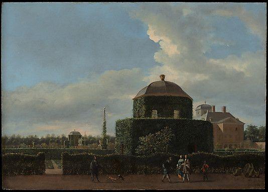 Het Huis ten Bosch en de formele tuin, vanuit het oosten gezien (ca. 1668–70) - Jan van der Heyden (1637-1712).