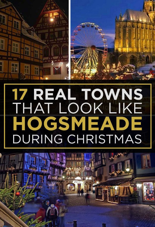 17 Actual Towns That Look Just Like Hogsmeade