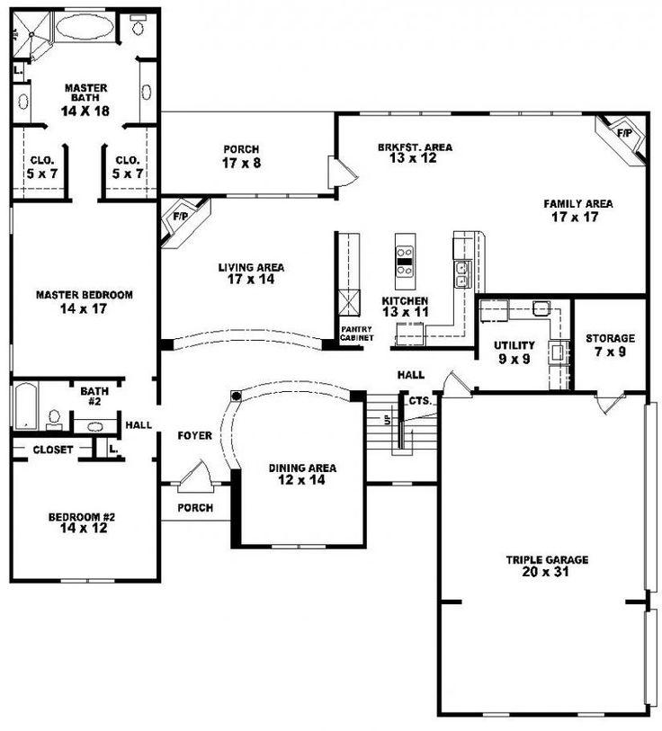 Traditional 5 Bedroom 4 Bath House Plan : House