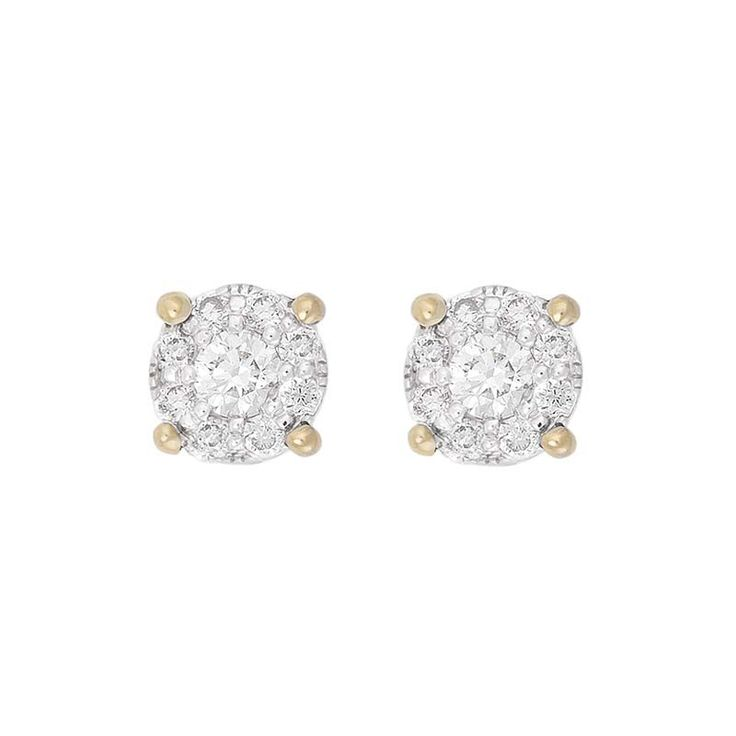 9ct gold and diamond Starburst Collection cluster stud earrings | Fraser Hart Jewellers