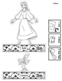 Disney S Beauty And The Beast Printables Coloring Pages