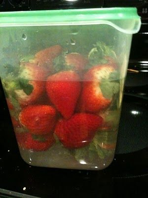 Chocolate Vodka Soaked Strawberries- Soak Strawberries in Chocolate Flavored Vodka for 24