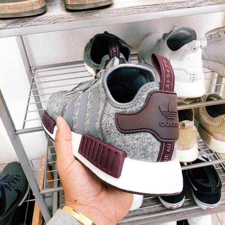 Mega Colorway on the adidas NMD_R1 Gray Four / Maroon! Super sneaker, no matter if …   – adidas Sneaker