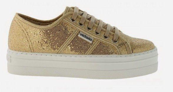 Zapatillas con plataforma y un toque glitter by Victoria #getthelookcasual #lasbicicletassonparaelverano
