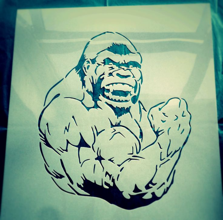 Gorilla custom stencil - by CreateCuts