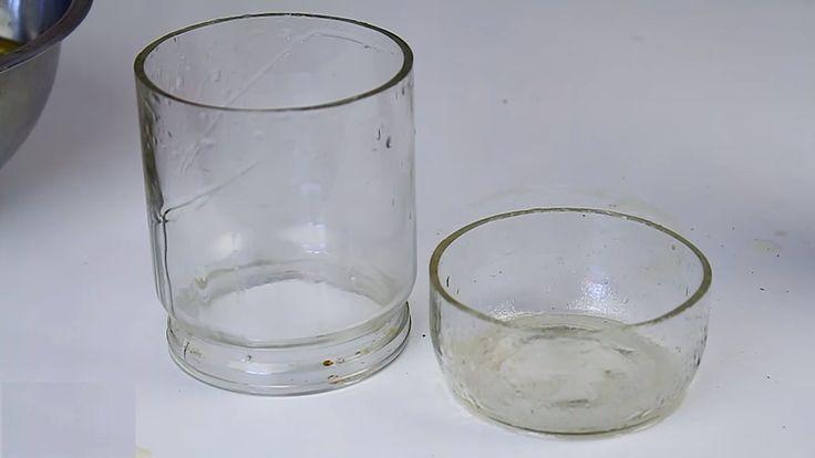 Предполагаю, что способ резки стеклянной банки, бутылки или другой емкости из стекла посредством масла Вам не знаком.  Что ж, если это так, то тем ярче будут Ваши впечатления от увиденного )  Ибо удивителен не только сам способ, но и идеальное качество результата реза. Так что смотрите и расширя