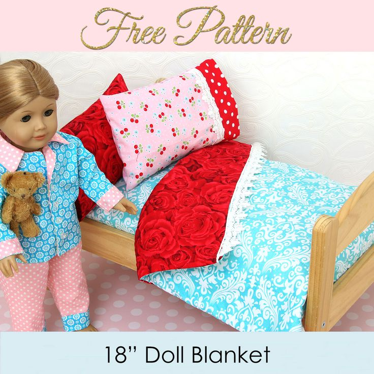 This is part 4 of my diy doll bedding series. Today we will learn how to finish your doll bedding with a cute doll blanket pattern.