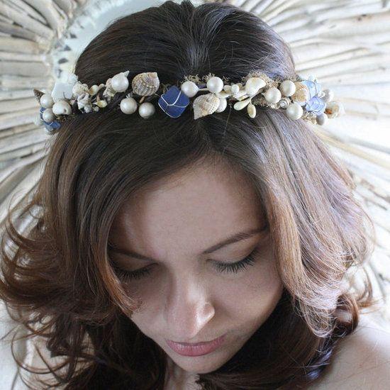 Seashells!Delight Cobalt, Blue Sea, Seashells Crafts, Cobalt Blue, Seashells Halohairpiec, Sea Seashells, Seaside Brides, Seaglass, Sea Glasses