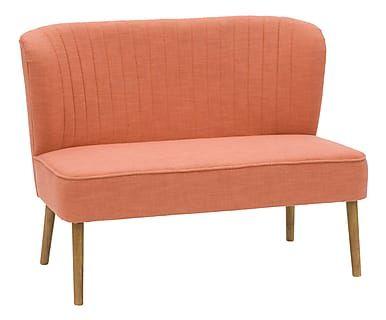 Divano in legno e tessuto Emily arancione, 110x86x66 cm